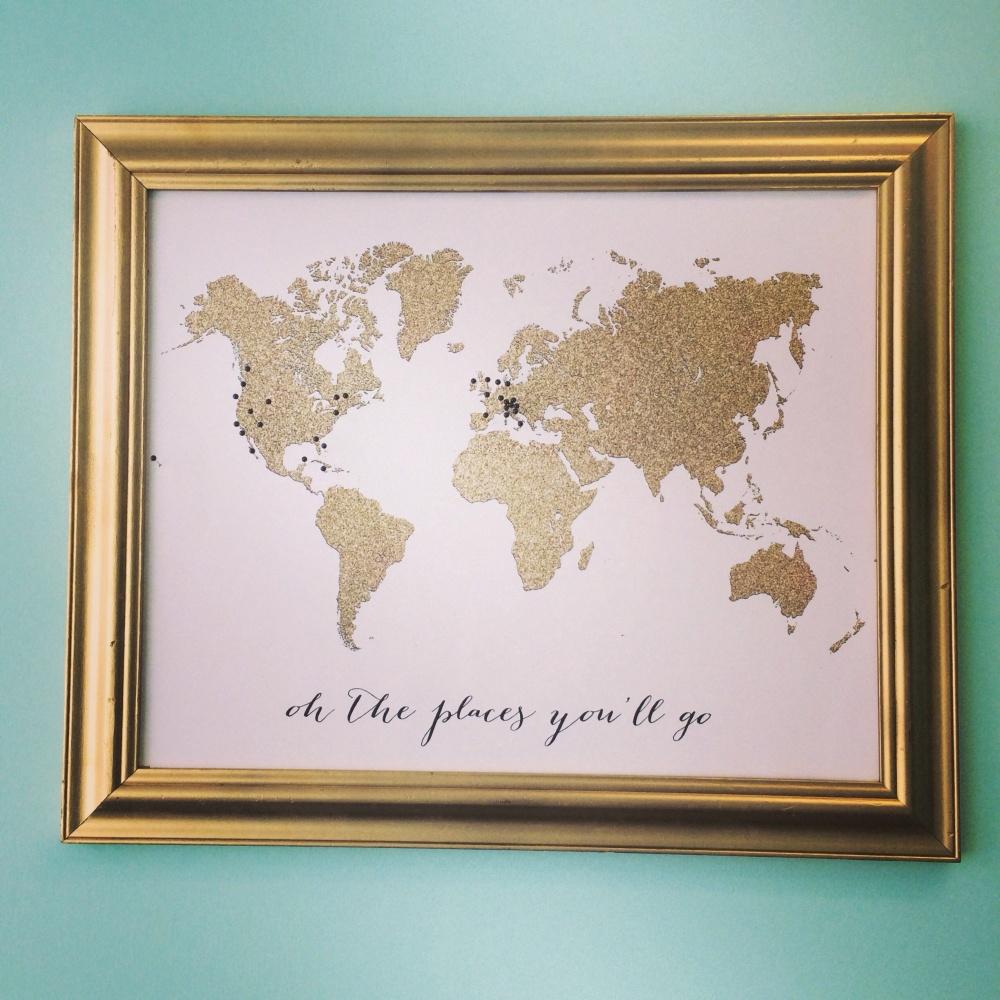 glitter world map