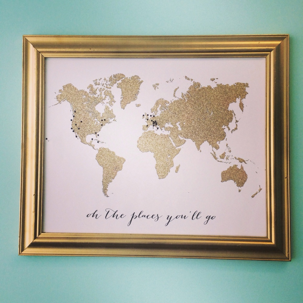 How printable glitter and printable faux gold foil look when glitter world map my gold foil gumiabroncs Image collections