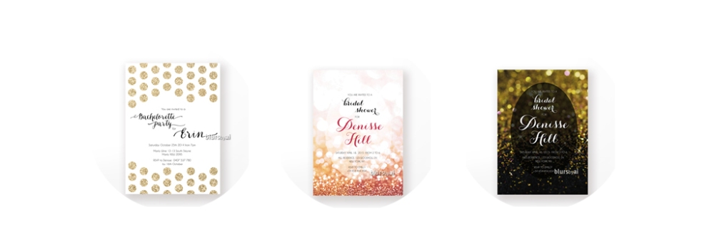 Custom bridal shower invitations Custom save the date invitations