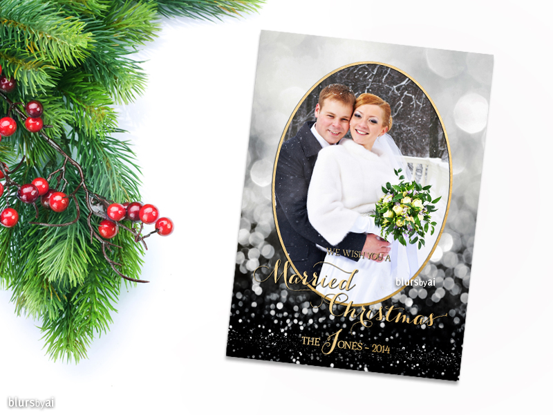 Printable photo Christmas card