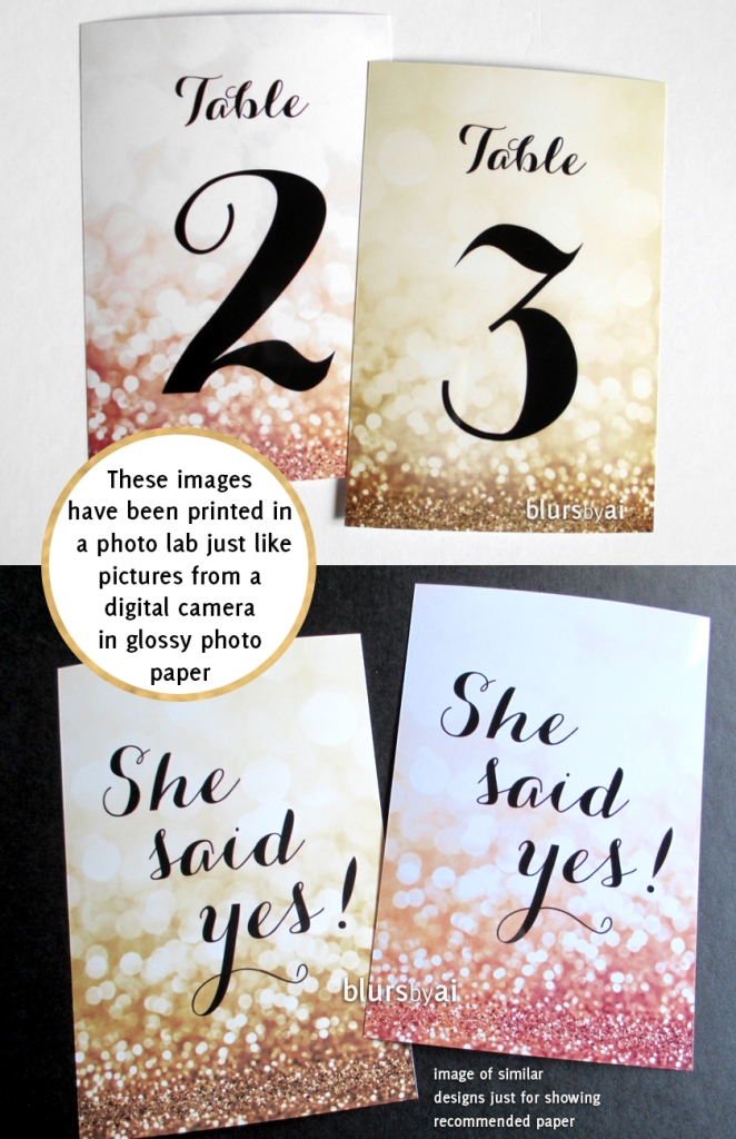 the olivia collection recommended glossy photo paper printed in a photo lab