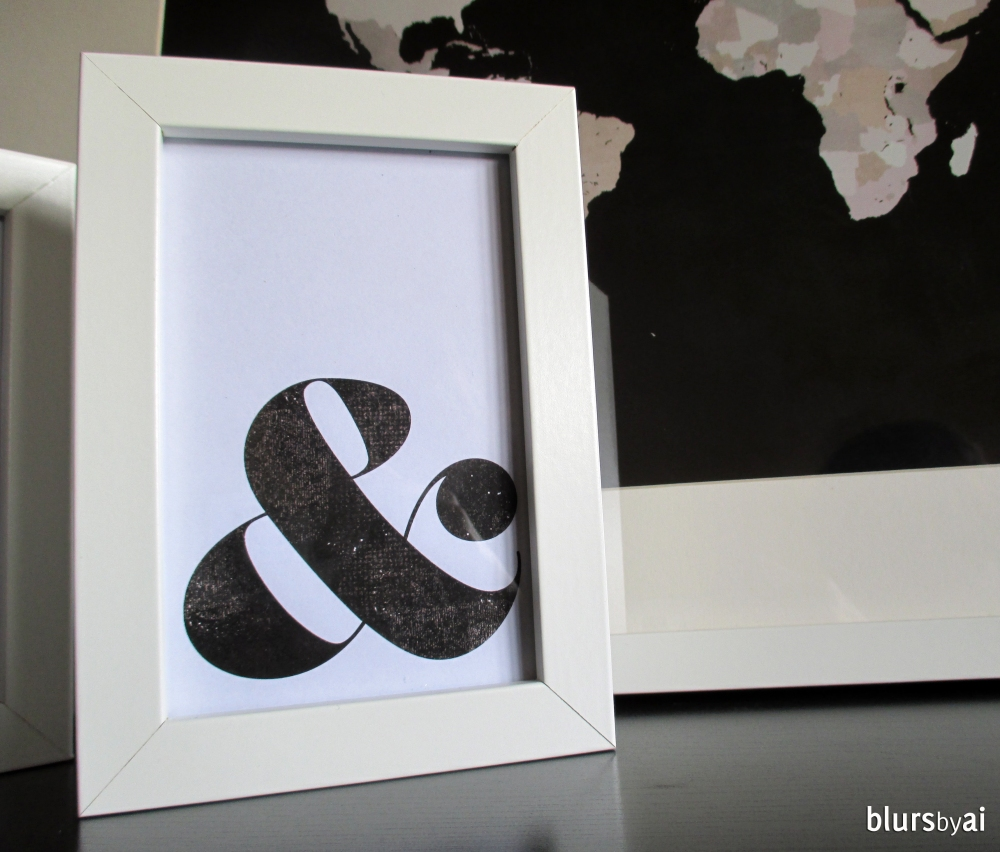 Black and white ampersand print