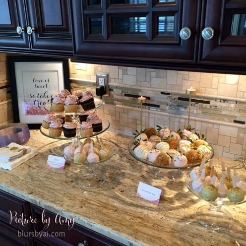 Bridal shower: love is sweet please take a treat