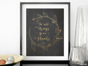 be thankful printable decor