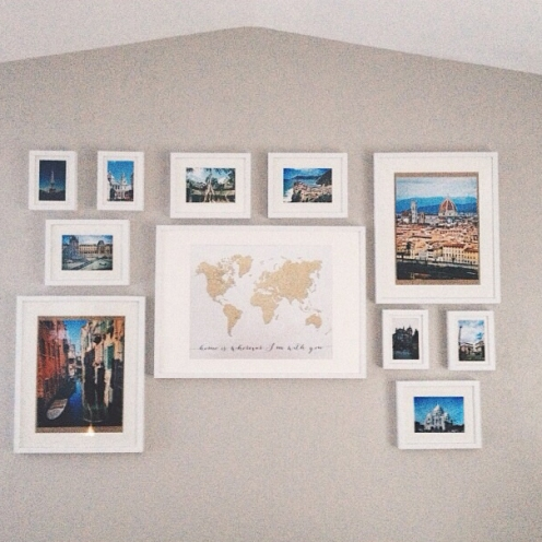 Customer gallery blursbyai gold glitter world map in a gallery wall image courtesy of kelly gumiabroncs Choice Image