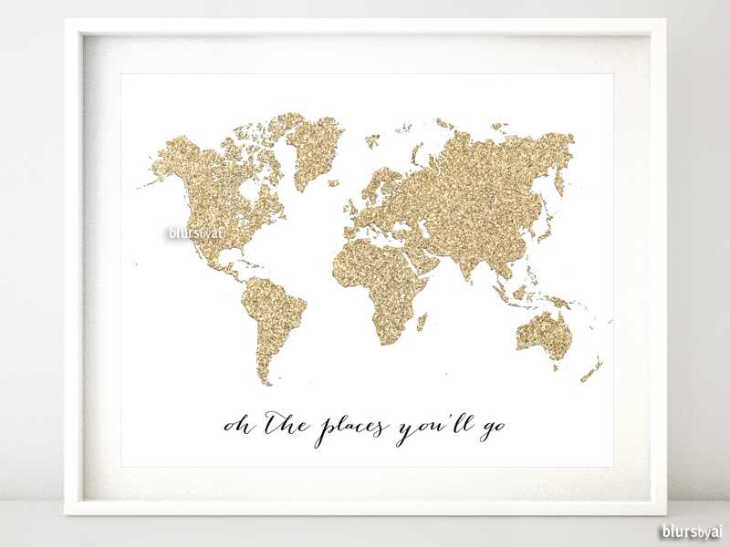 Oh the places you'll go world map