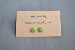 handmade green earrings