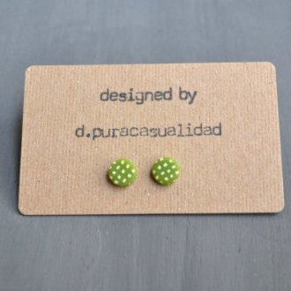 handmade green earrings