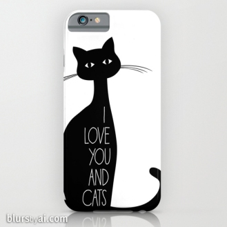 I love you and cats phone case