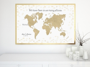 Wedding guestbook alternative - signable world map