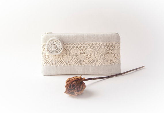 Rustic Wedding Clutch Purse