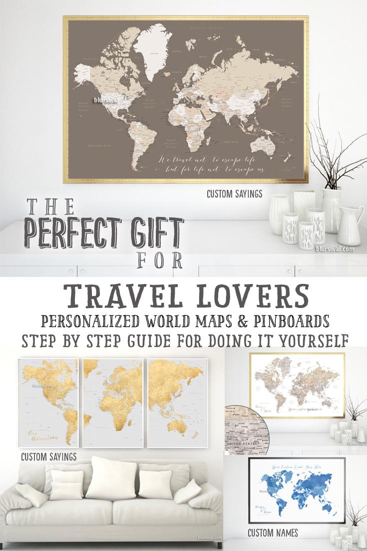 Custom world map prints