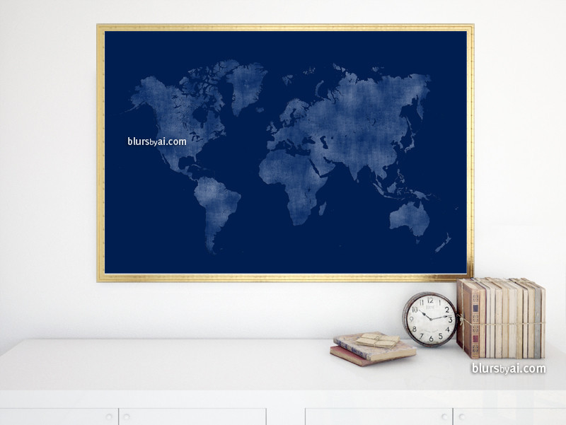 Navy blue map