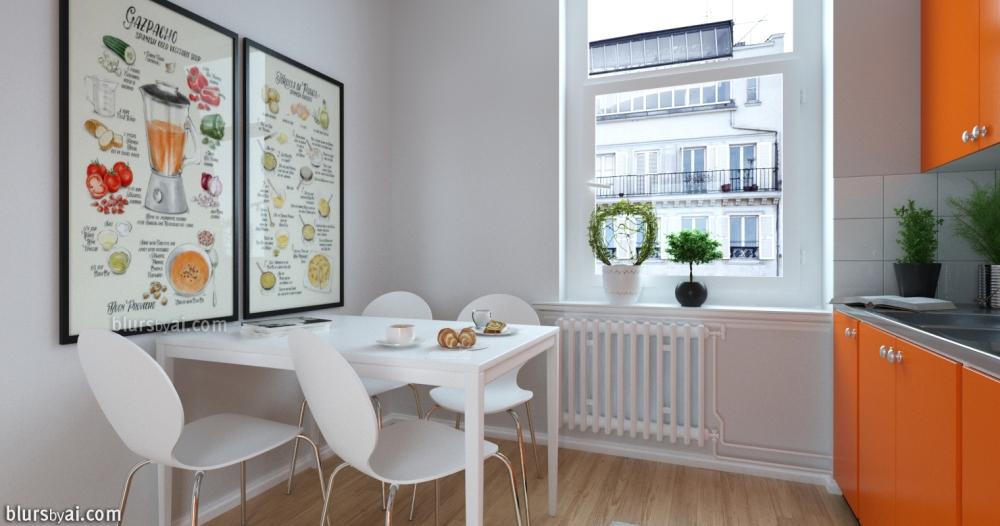 Gazpacho and Tortilla prints in Kitchen 2