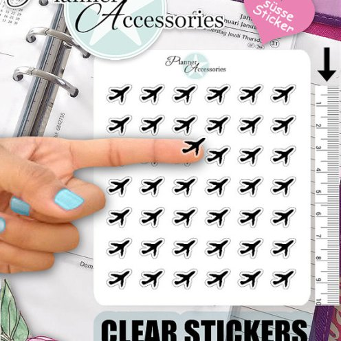clear airplane stickers