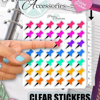clear pushpin stickers