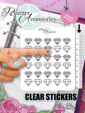 diamond clear stickers