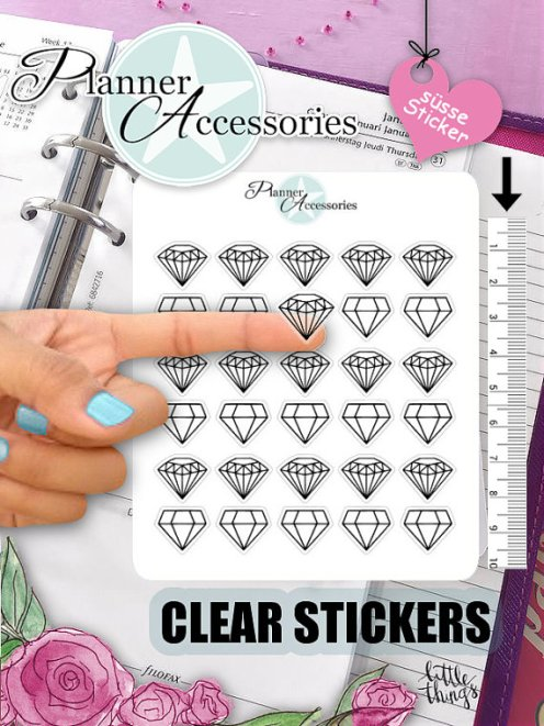 diamond clear stickers