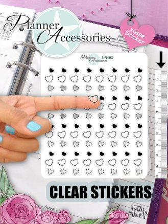heart clear stickers