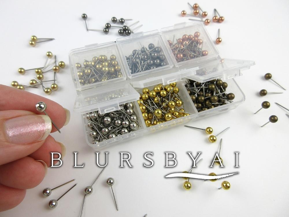 set of metallic push pins for blursbyai maps_