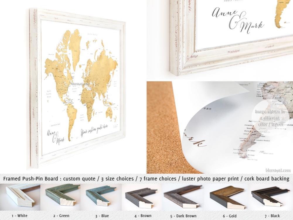 blursbyai_PUSHP-push pin board world map in gold foil