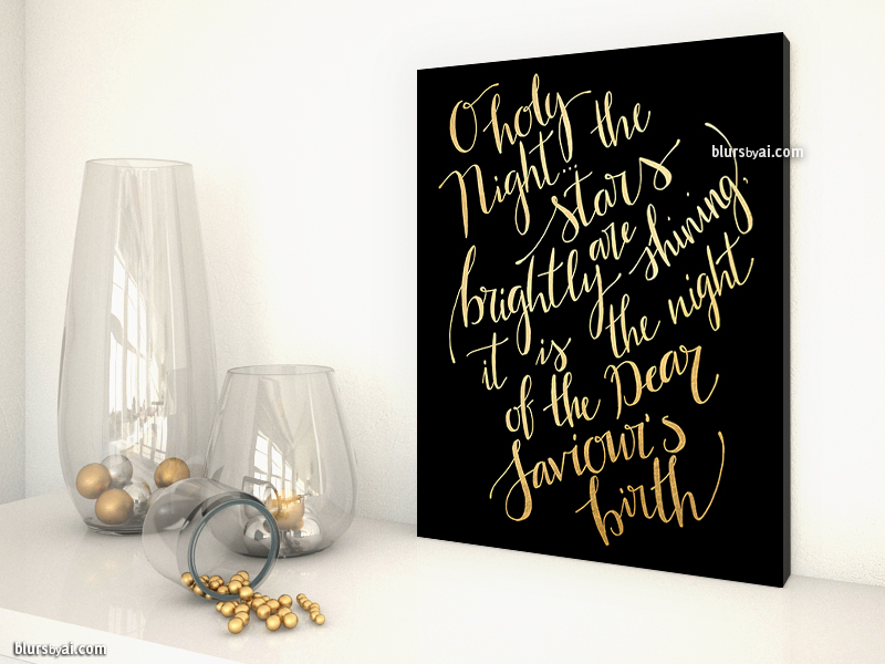 o-holy-night-the-stars-are-brightly-shining-blursbyaishop-black-gold