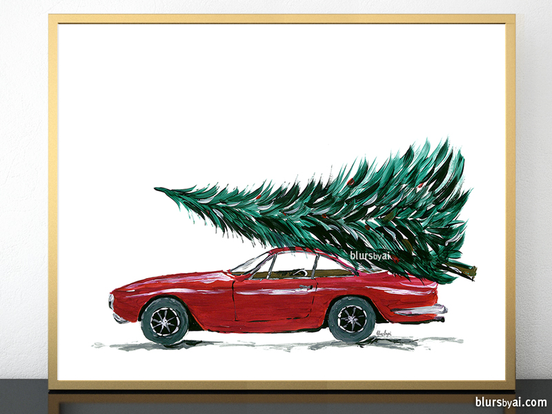 red-car-carrying-christmas-tree