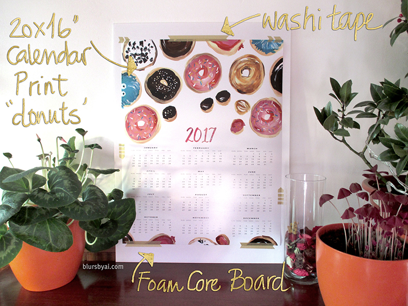 diy calendar printable display