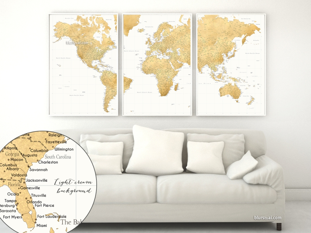 map151-049-gold-world-map-in-3-pieces-cream-background-1