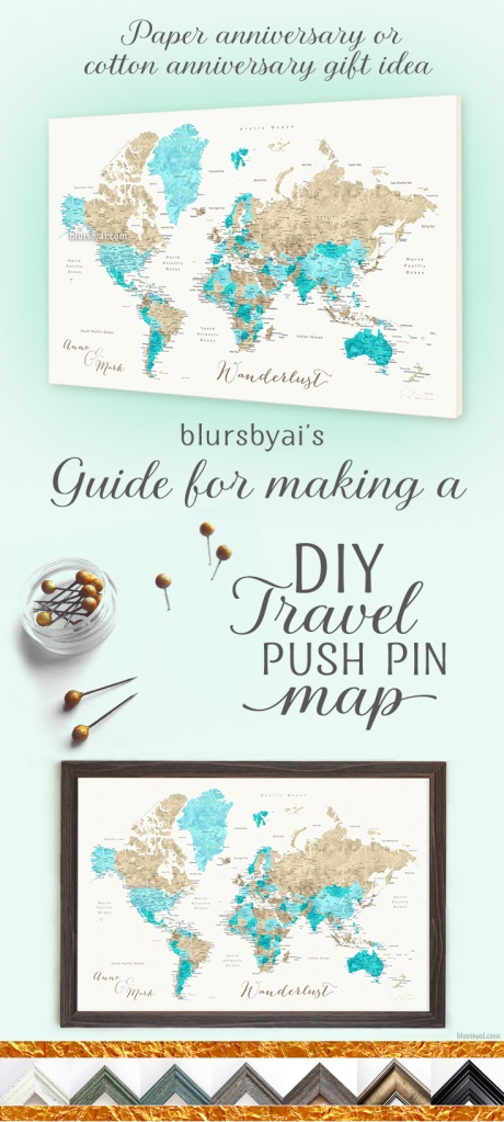 how to make a push pin map diy