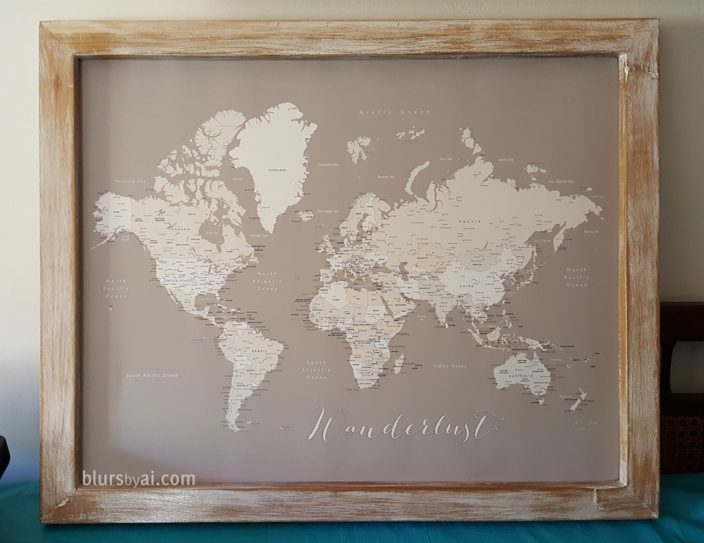 Diy Push Pin Map Frame Foamboard Map Print Blursbyai