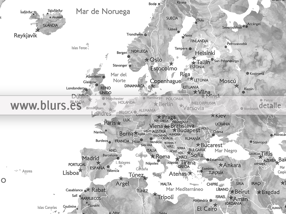 New world maps in spanish with cities countries and states blursbyai close ups gumiabroncs Image collections