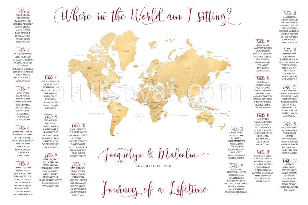 Travel themed wedding printable seating charts blursbyai and today i want to show you some samples ive made for previous couples gumiabroncs Choice Image