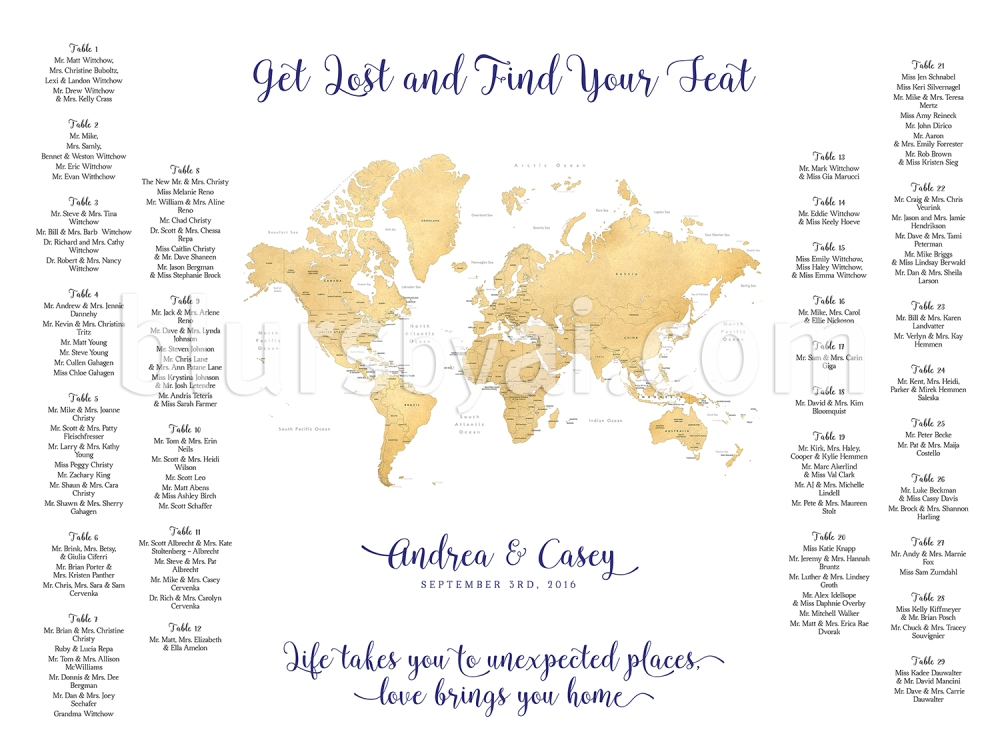 Travel themed wedding printable seating charts blursbyai and we can actually use any of my maps thats suitable for the size like we did here gumiabroncs Choice Image