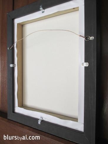 back floating frame canvas