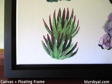close up canvas print framed floating frame cactus