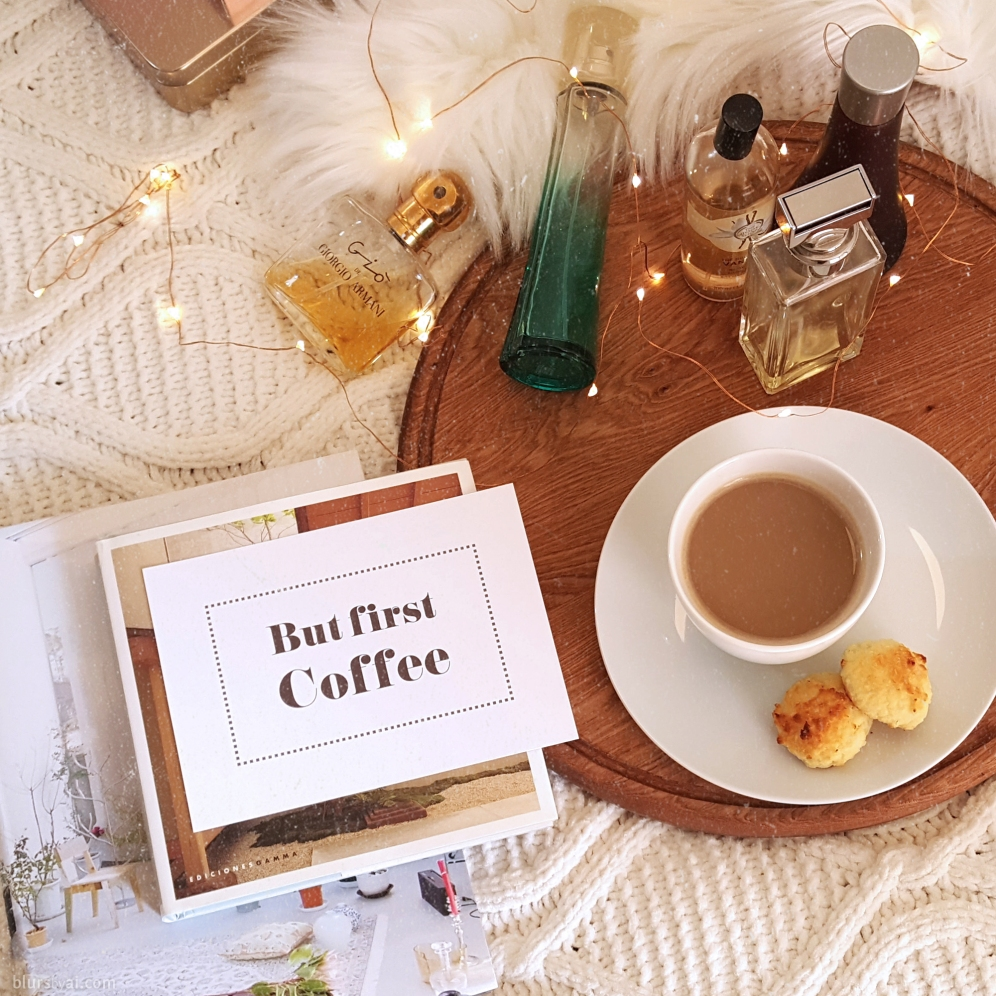 Printable social media flat lay cards: but first coffee