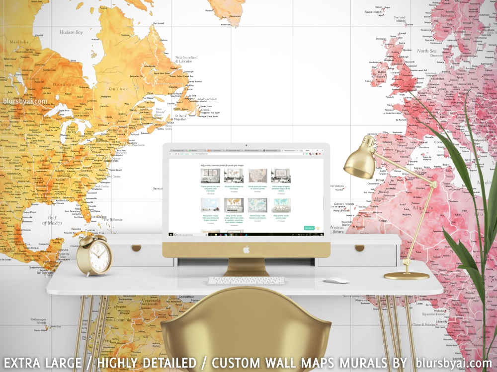 Extra large and extra detailed world map wall murals by blursbyai share this gumiabroncs Image collections