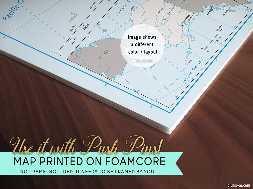 Making a diy travel push pin map with one of blursbyais printable option 2 print on forex gumiabroncs Images