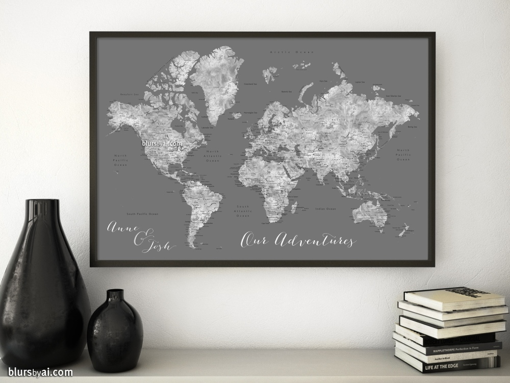 New gray world map color combination blursbyai new gray world map color combination gumiabroncs Choice Image