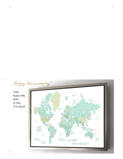 world map push pin gift placeholder card 1