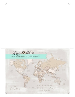world map push pin gift placeholder card 2