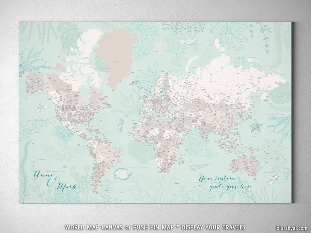 Lenore new highly detailed world map with marine creatures blursbyai lenore new highly detailed world map with marine creatures gumiabroncs Gallery
