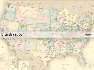 vintage map of the usa current map of the united states by blursbyai (5)