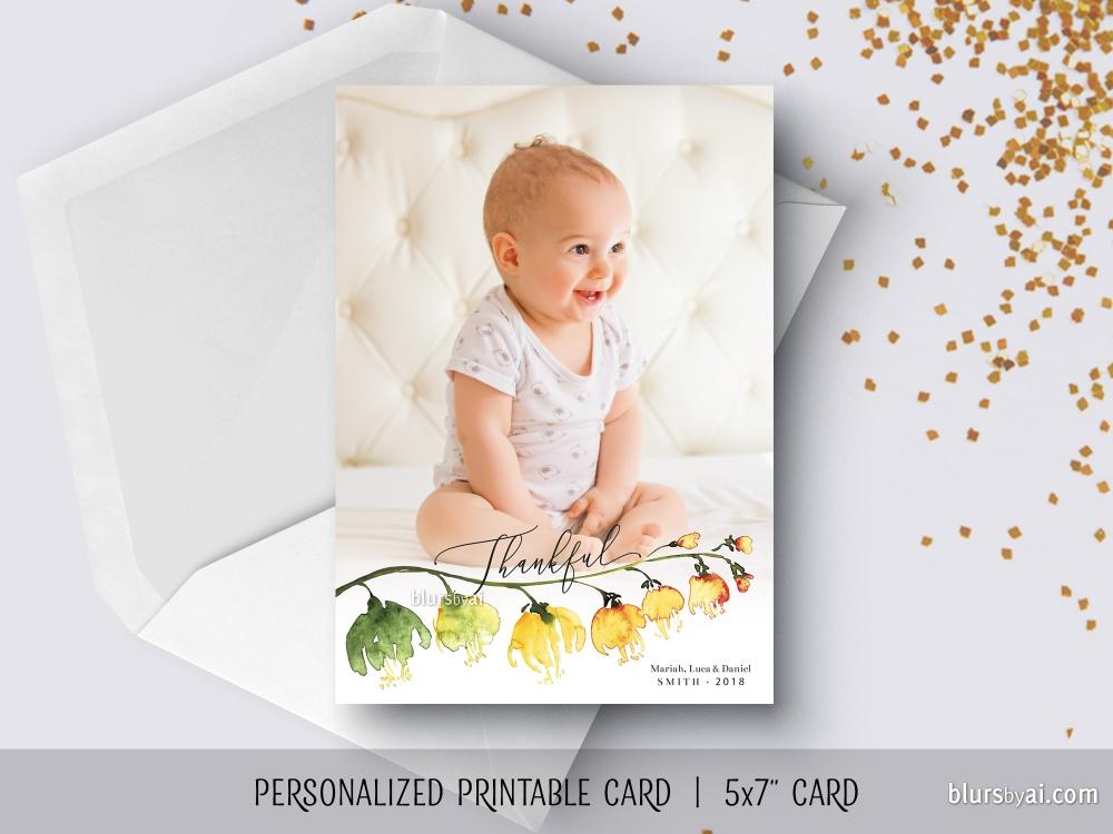 Printable Personalized Holiday Cards Blursbyai