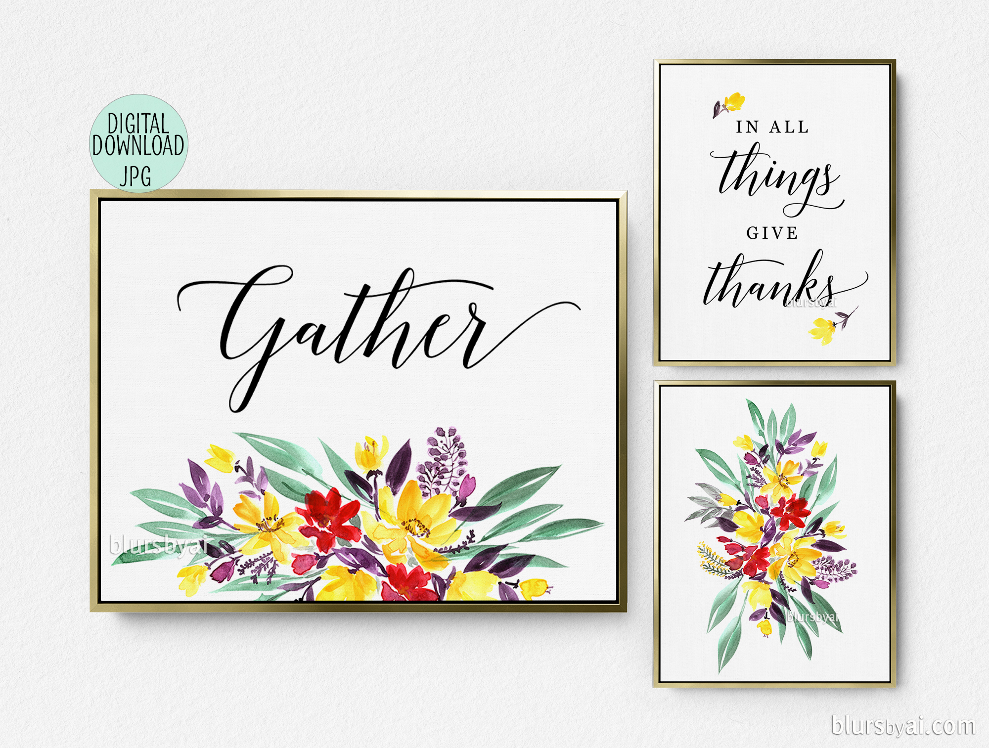 photo about Gather Printable titled Assemble indicators printable (3 for the price tag of 1)