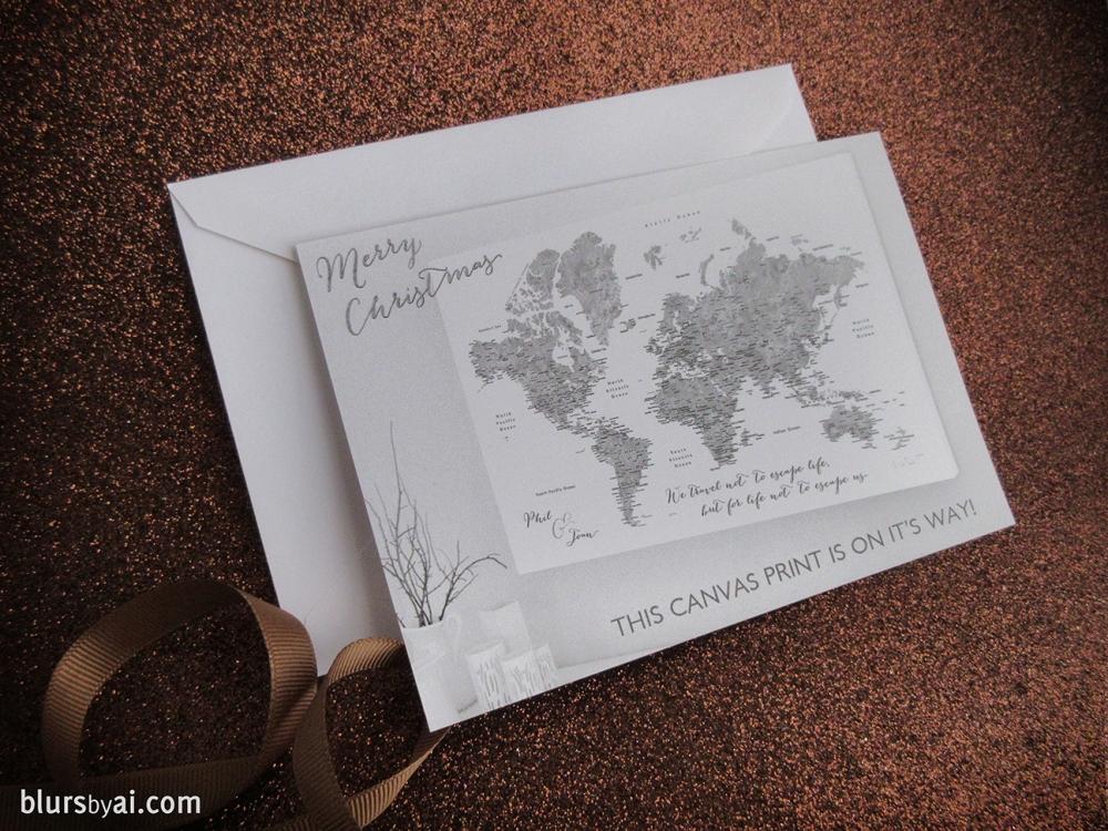 gift placeholder card by blursbyai