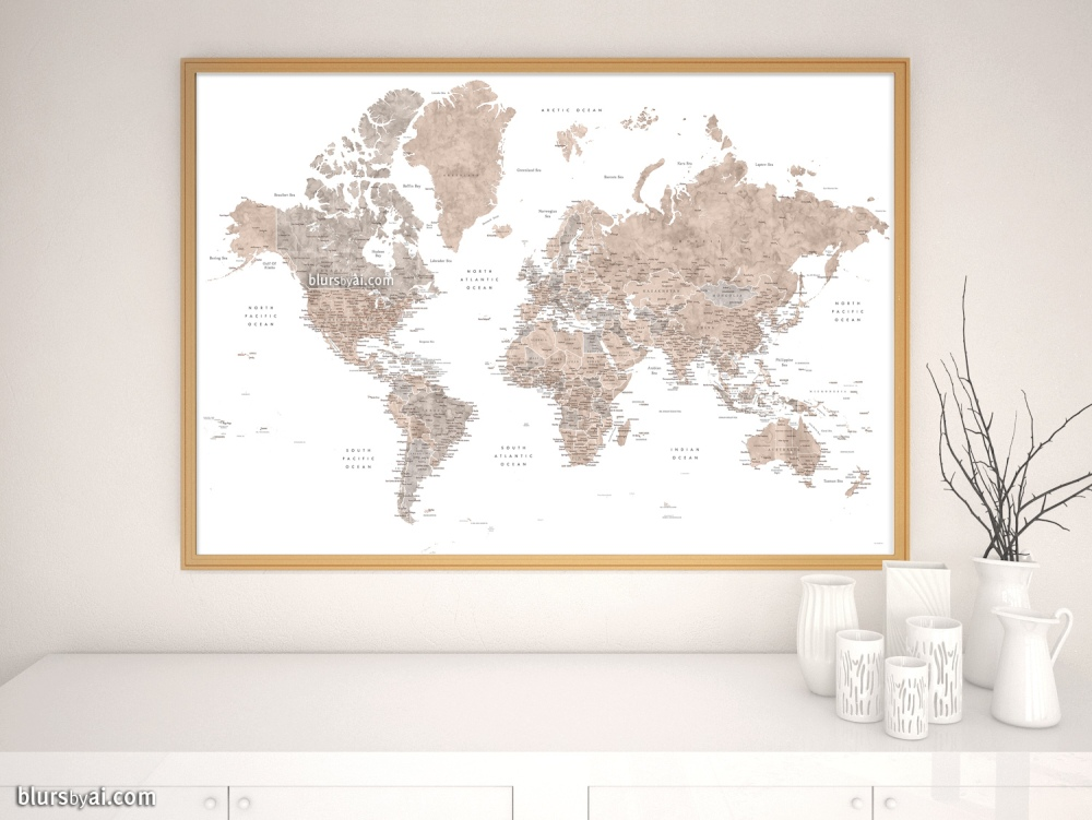 New world map with labels, including US state capitals (map201) on unique fashion design, unique animals design, unique white design, unique home design, unique clock design, unique character design, unique art design, unique architecture design, unique country design,