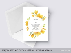 custom designed california poppies wedding invitation by blursbyai