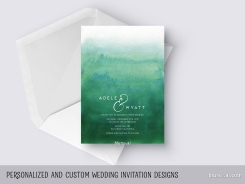 custom designed wedding invitation by blursbyai
